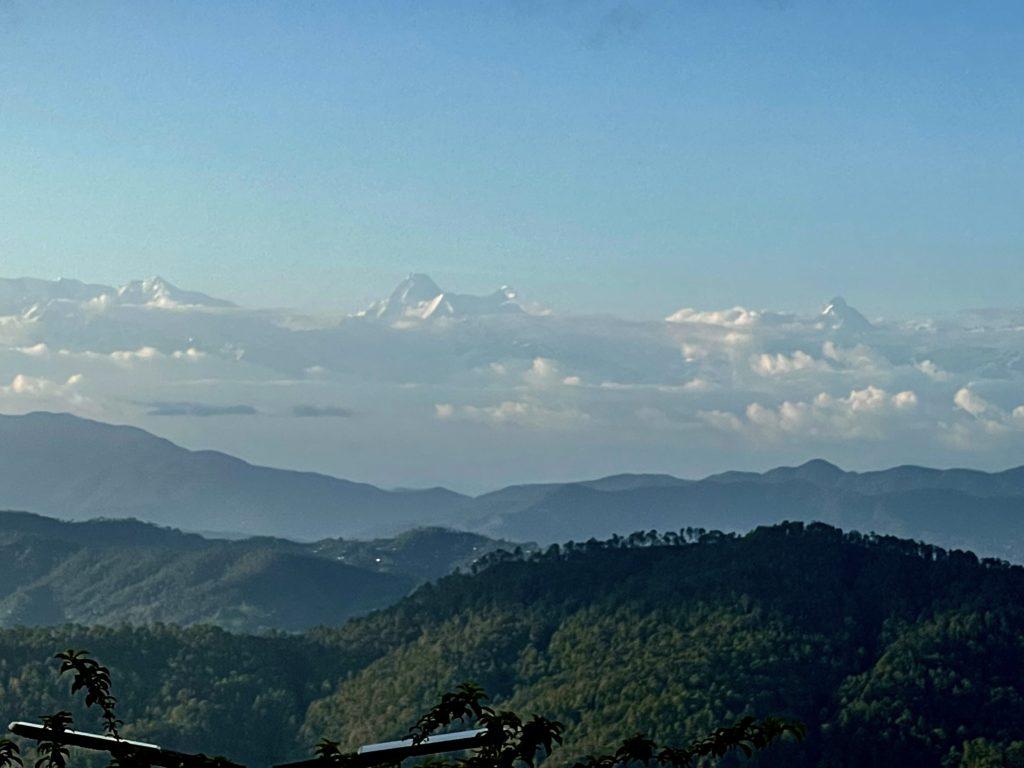 Nanda Devi Himalayan Range, as seen from SRSRC land site, Uttarakhand